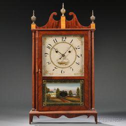 "Silas Hoadley ""Upside-Down"" Pillar and Scroll Shelf Clock"