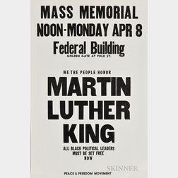 Martin Luther King, Jr., Mass Memorial Broadside