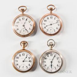 """Four """"940"""" Hamilton Open-face Watches"""
