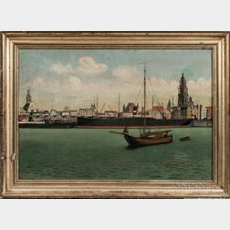 Dutch School, 19th Century      Dutch Waterfront Scene