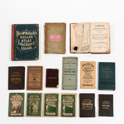 Fourteen North American Maps, Road Atlases, and Railroad Maps