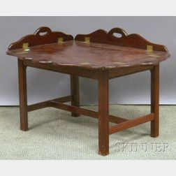 Chippendale-style Mahogany Butler's Tray Table