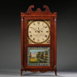 Lucius Bradley Eight-day Pillar and Scroll Shelf Clock