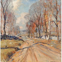 Emile Albert Gruppé (American, 1896-1978)    The Road to the Village