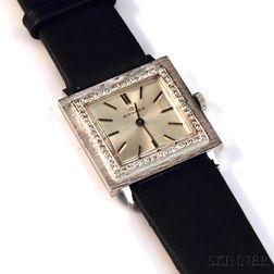 Lady's 18kt White Gold and Diamond Movado Wristwatch