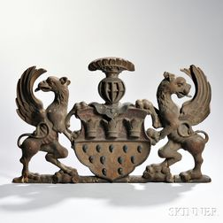 Parcel-gilt Carved Armorial of the City of Cologne