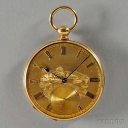 H. Mathey Peytieu 18kt Gold Open-face Watch