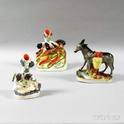 Three Staffordshire Ceramic Figures