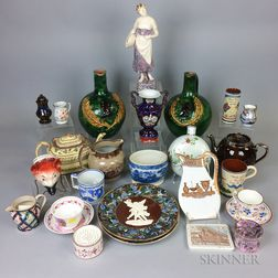 Twenty-five Mostly English Ceramic Items
