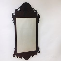 Large Chippendale Mahogany Scroll-frame Mirror