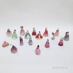 Seventeen Royal Doulton Ceramic Figures of Ladies
