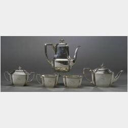 Tiffany & Co. Sterling Five Piece Tea and Coffee Service