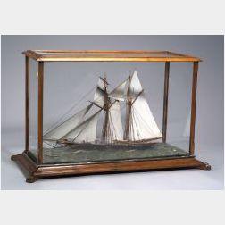 Cased Model of the Schooner Yacht Laura