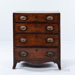 Georgian-style Mahogany-veneered Diminutive Chest of Drawers