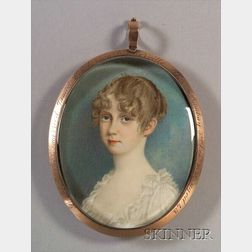 Portrait Miniature of Lucy Barnes