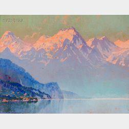 Hezekaiah Anthony Dyer (American, 1872-1943)      Lake Como