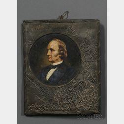 Peter Baumgras (American, 1827-1903)      Portrait of Boston Abolitionist Wendell Phillips.