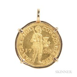 1729 Gold Ducat Pendant from the Wreck of the Vliegenthart