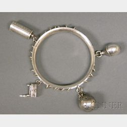 Georg Jensen Bangle with Charms