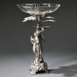 WMF (Württembergische Metallwarenfabrik) Art Nouveau Figural Tazza