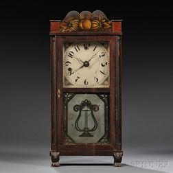 Silas Hoadley Time and Alarm Shelf Clock