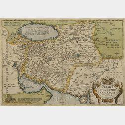 Asia Minor, the Middle East. Abraham Ortelius (1527-1598) Persici Sive Sophorum Regni Typus.