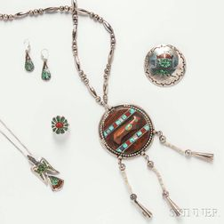 Group of Southwestern Sterling Silver Jewelry