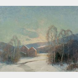 Ernest Albert (American, 1857-1946)      Some Old Red Barns