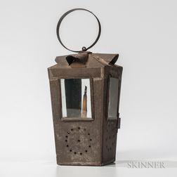 Sheet Tin and Glass Barn Lantern