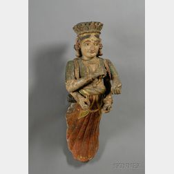 Carved Polychrome and Gilt Sculpture