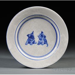 Dedham Pottery Scottie Dog Plate