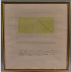 Robert Rohm (American, 1934-2013)      A Corner for Tufts University-II-April 1968
