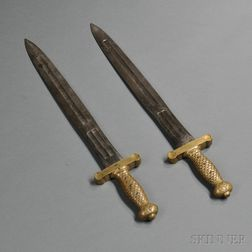 Two Model 1833 Foot Artillery Swords