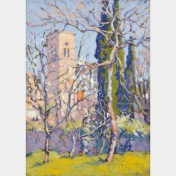 Margaret Jordan Patterson (American, 1867-1950)      Plum Blossoms