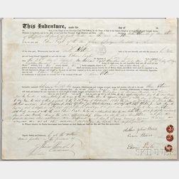 Indenture, Sheffield, England, 26 September 1861