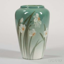 Sara Sax Decorated Rookwood Pottery Vase
