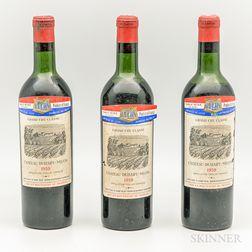Chateau Duhart Milon 1959, 3 bottles