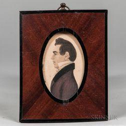 Rufus Porter (Connecticut/Massachusetts, 1792-1884)      Portrait of a Member of the Boss Family