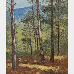 Joseph Eliot Enneking (American, 1881-1942)      View of Mount Kearsarge, New Hampshire/Kearsarge through the Trees