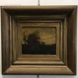 Attributed to John Francis Murphy (American, 1853-1921)      Tonalist Landscape