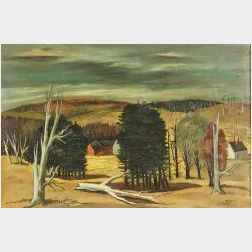 Charles Harsanyi (American, 1905-1973)  Fallen Tree