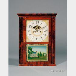 Eli Terry, Jr. & Co. Mahogany Shelf Clock