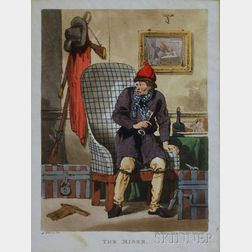 Two Unframed Hand-colored Engravings:      Henry William Bunbury (British, 1750-1811), The Rivals