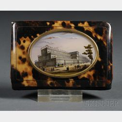 Souvenir Tortoiseshell Card Case from the Crystal Palace Exhibition