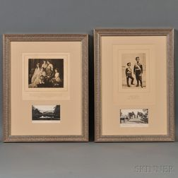 Two Framed Photogravures of the Russian Imperial Family