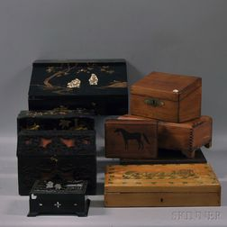 Nine Assorted Boxes