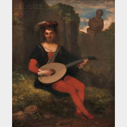 Washington Allston (American, 1779-1843)      A Young Troubadour