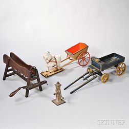 Group of Miniature Farm Equipment