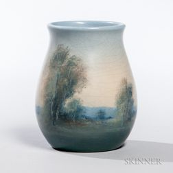 Ed Dier Rookwood Pottery Scenic Vase