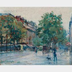 Frank Milton Armington (Canadian, 1876-1941)      Avenue d'Orleans, Paris